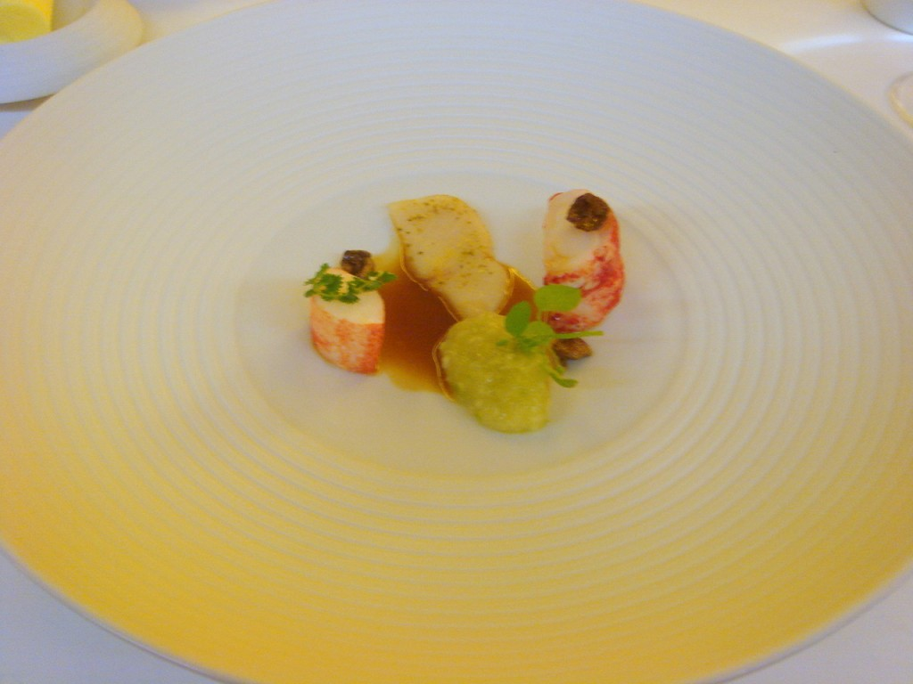 Lobster with apples & hamachi