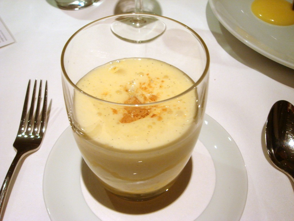 Passionfruit & lime mess with Brillat-Savarin cream