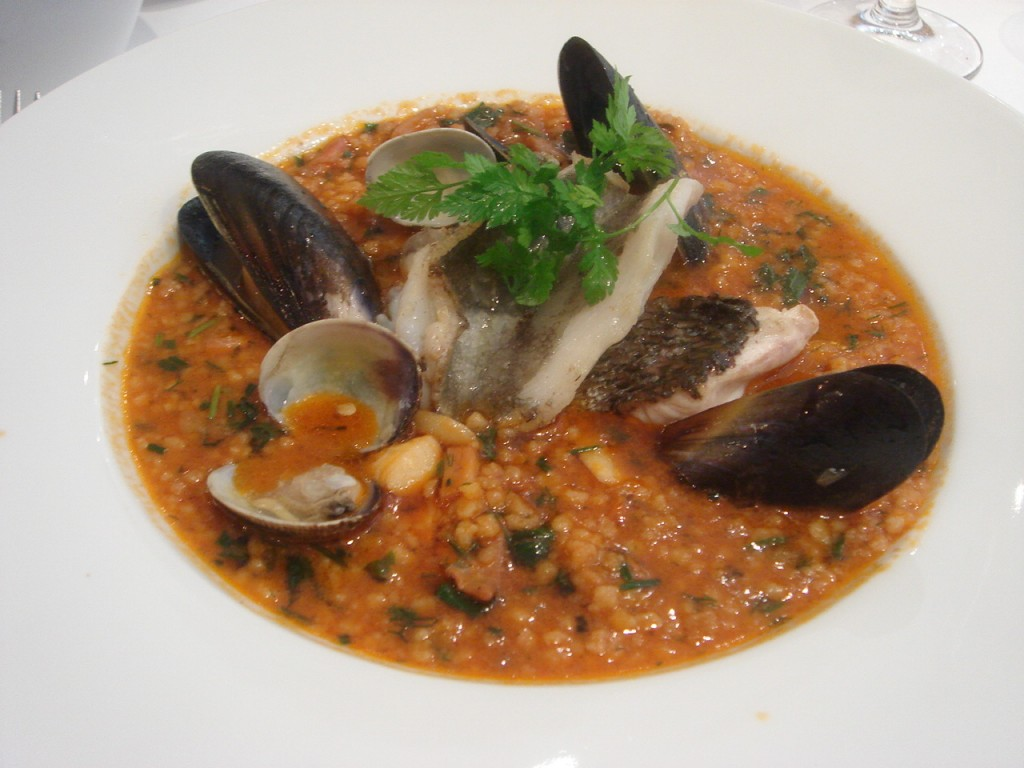 Fish stew with Sardinian fregola