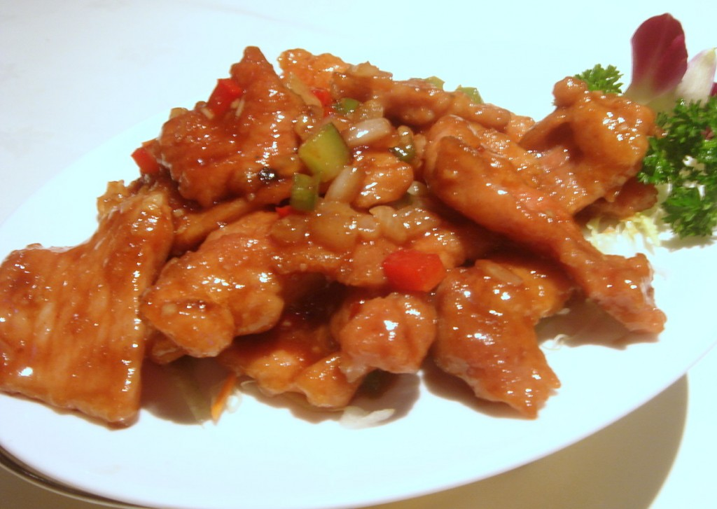 Pork in plum sauce