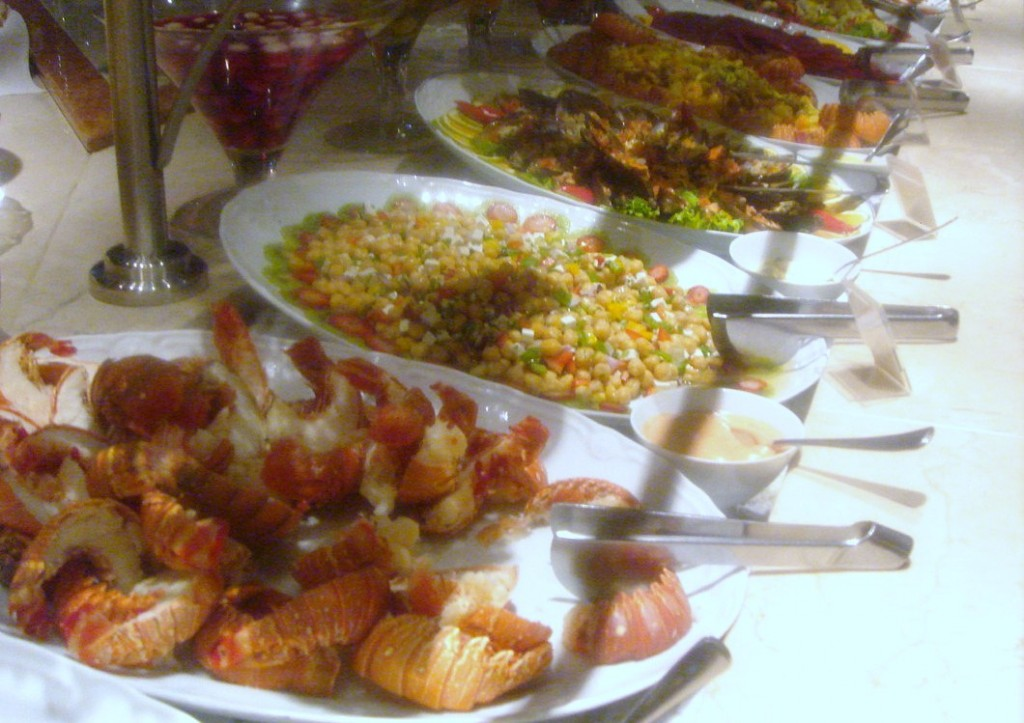 Food from the buffet