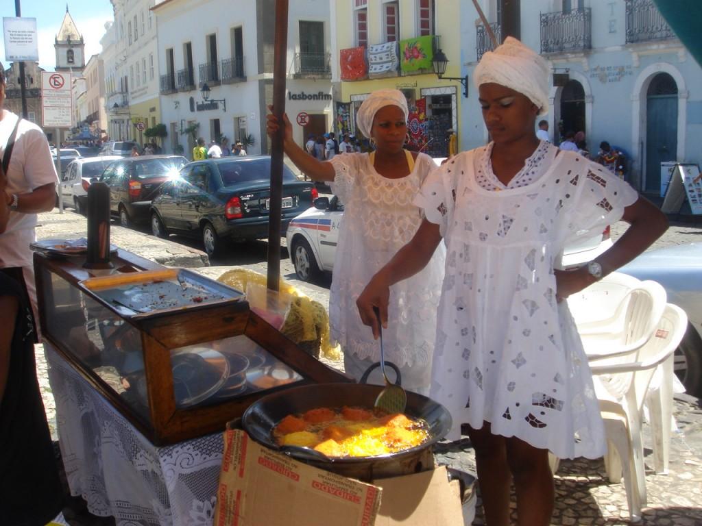 An acarajé stand