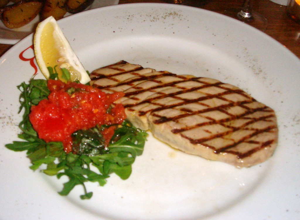 Chargrilled fillet of tuna