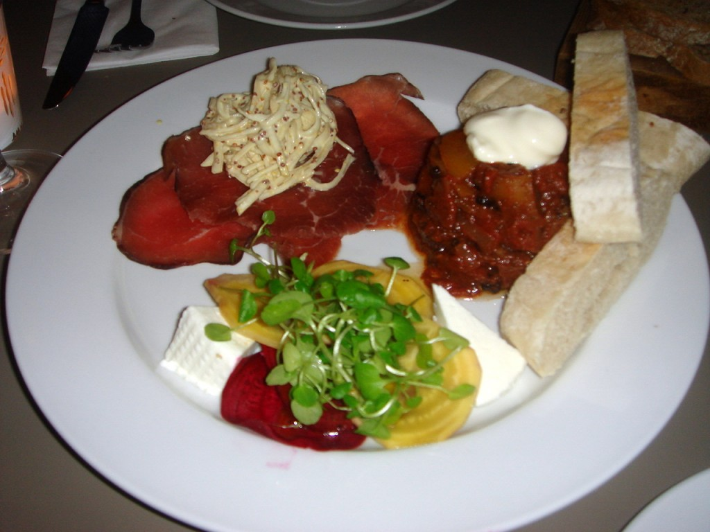 Selection of three salads