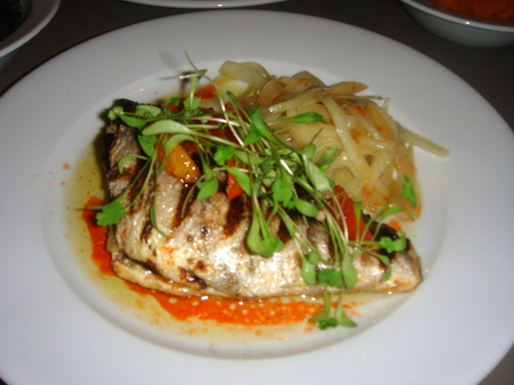 Sea bream with fennel & orange