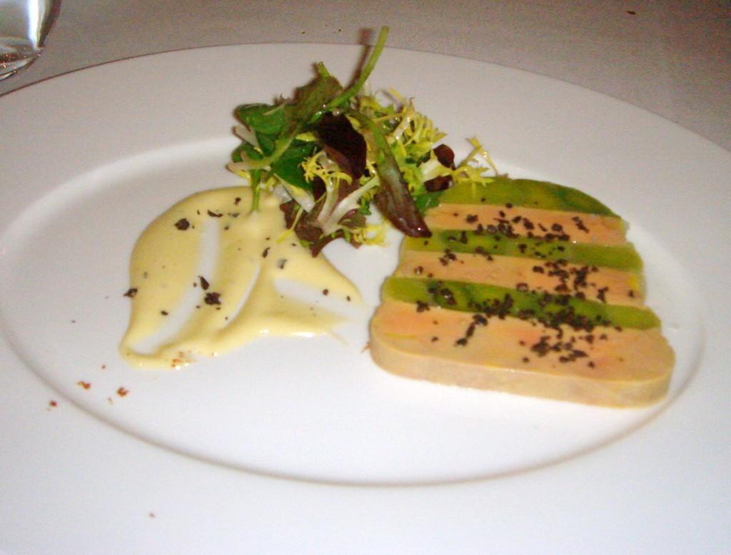 Terrine of Landaise foie gras & leeks