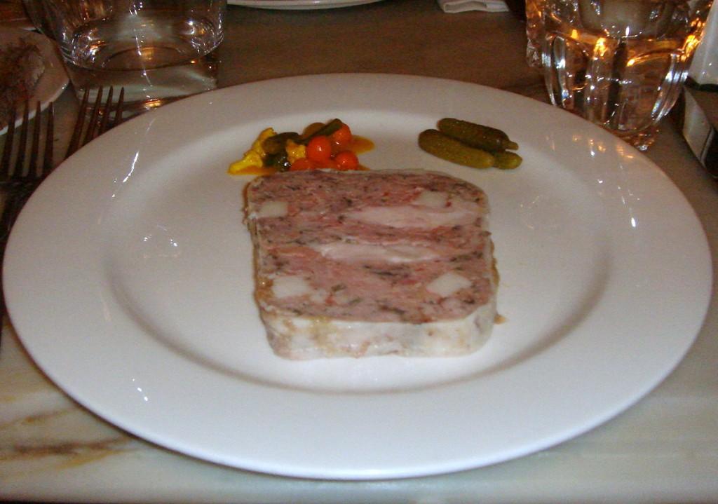 Pork & rabbit terrine, homemade piccalilli
