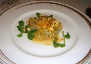 Scallops, peas & artichoke vinaigrette