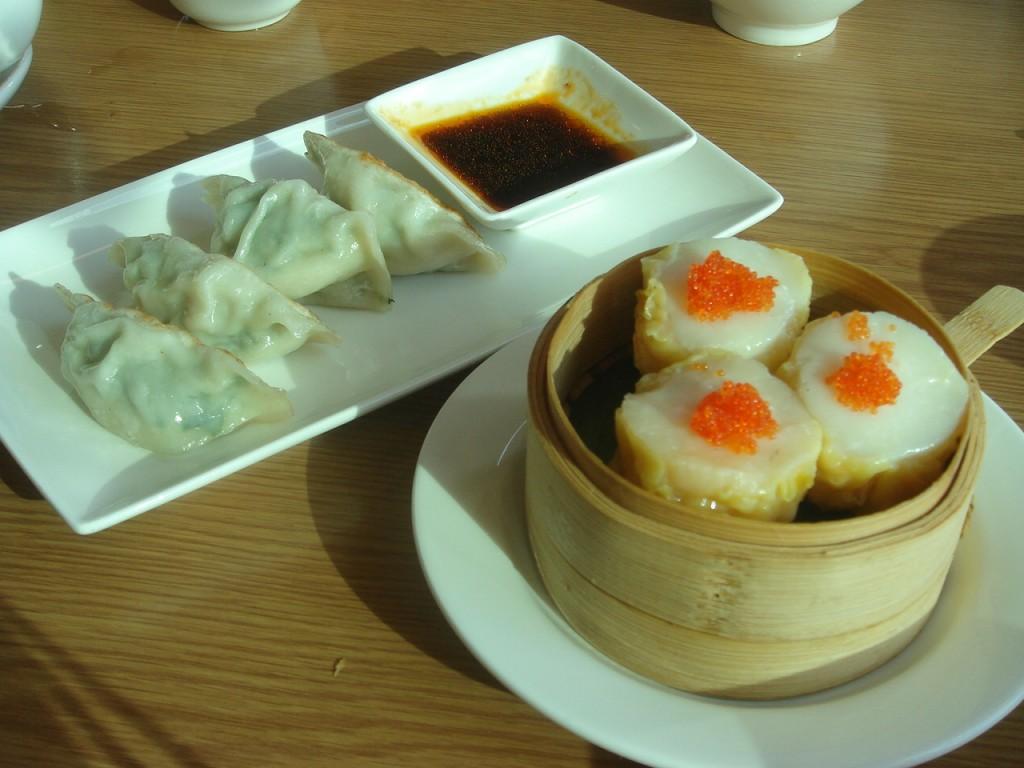 L to R: Shanghai dumplings, scallop shumai