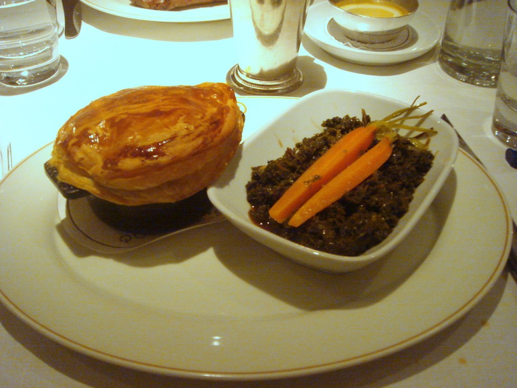 Rabbit pie with carrots & curly kale