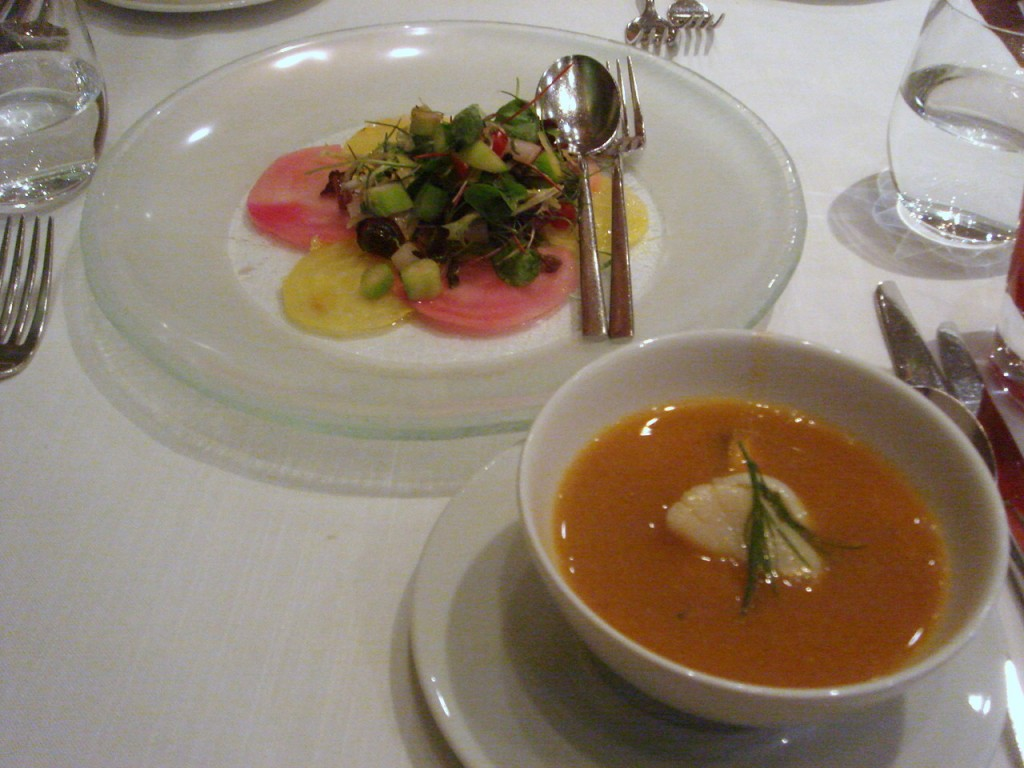 Quilon salad & seafood broth