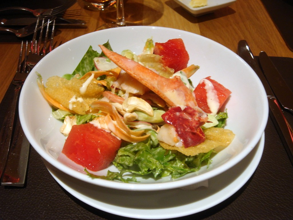Chop-chop salad with lobster
