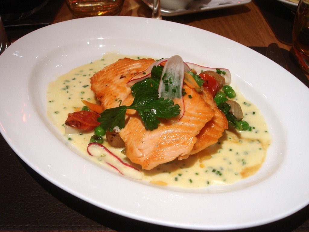 Escalope of Scottish salmon