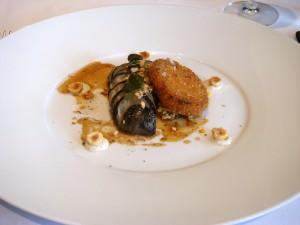 Celeriac & wild boar kromeski