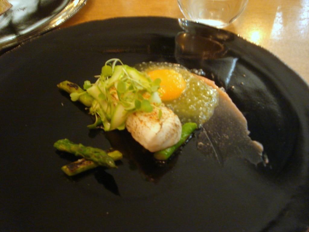 Halibut, confit york & asparagus