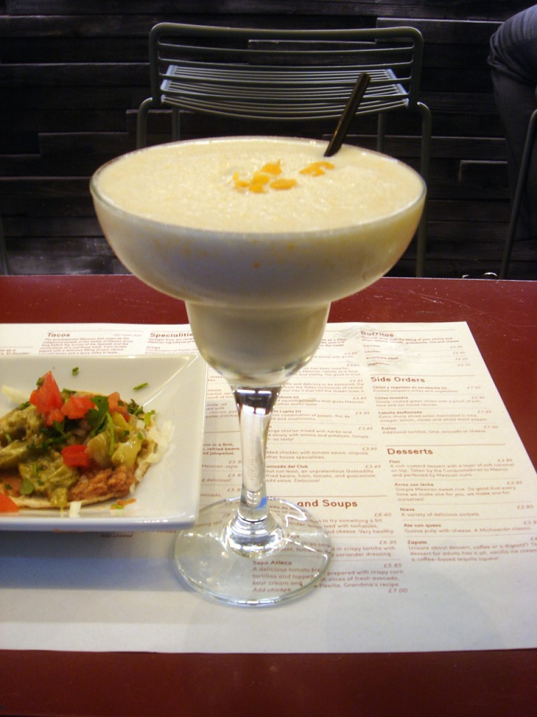 Sweet corn margarita