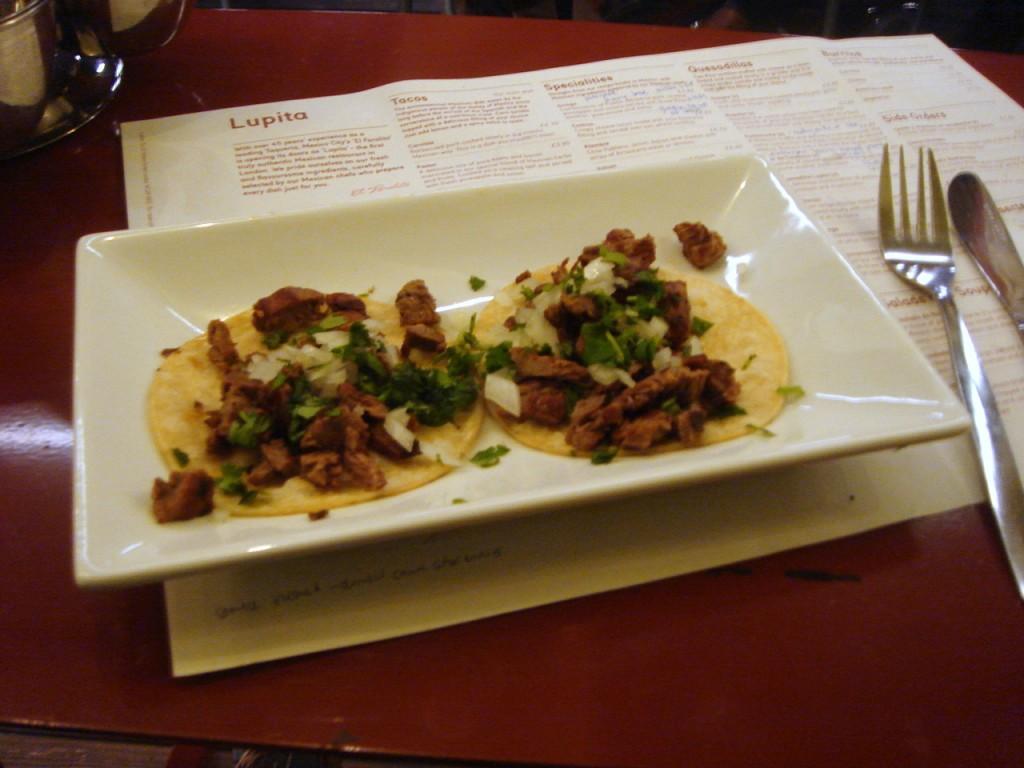 Arrachera (beef) tacos