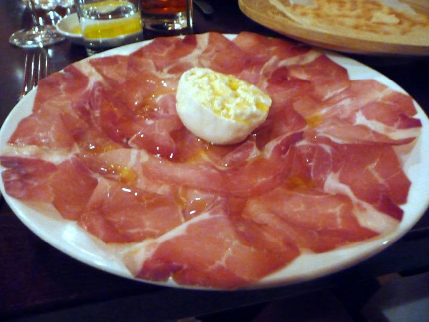 Culatello di zibello with burrata cheese