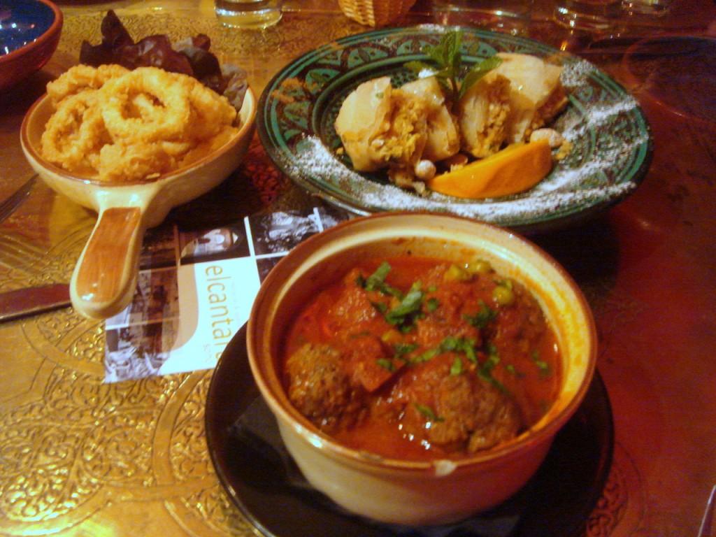 Calamari, pastilla & meatballs