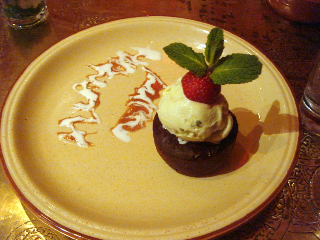 Date & chocolate pudding