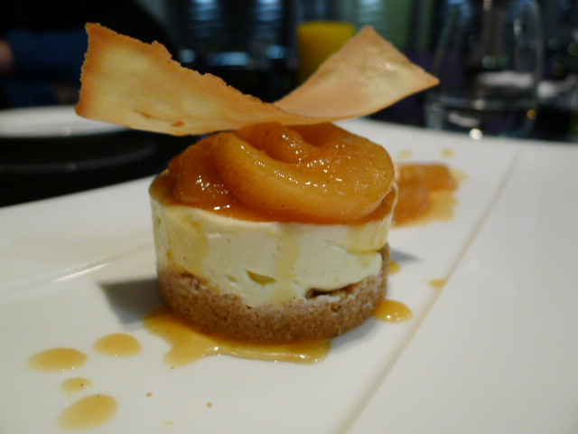 Caramelised pear cheesecake