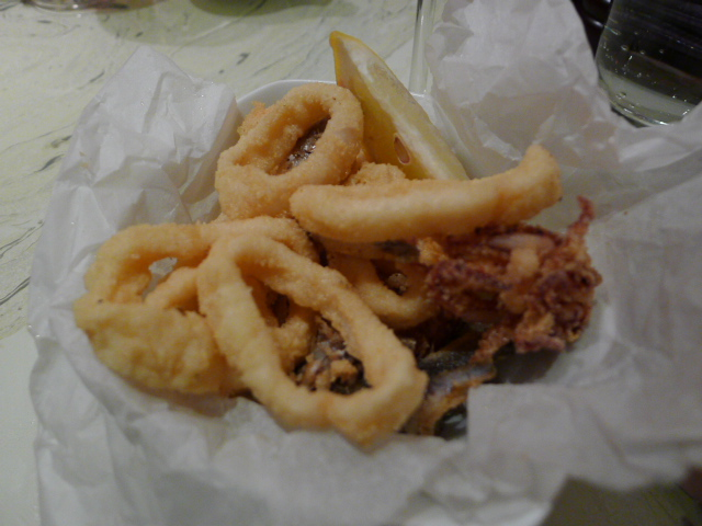 Deep-fried squid and whitebait