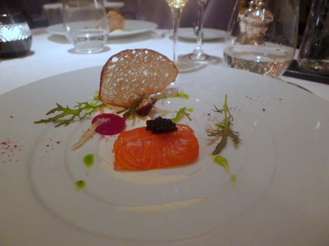 Citrus cured organic salmon