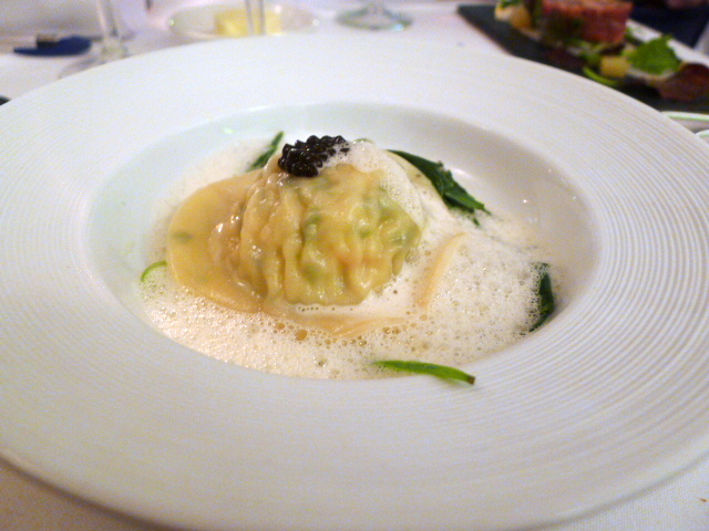 Cornish crab raviolo