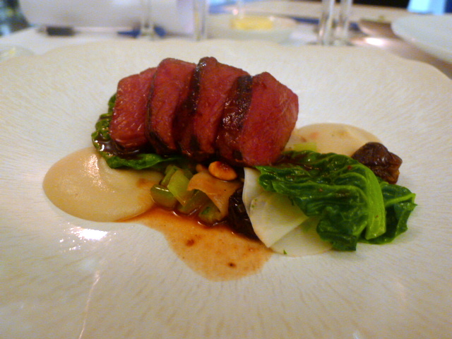 Roast venison saddle