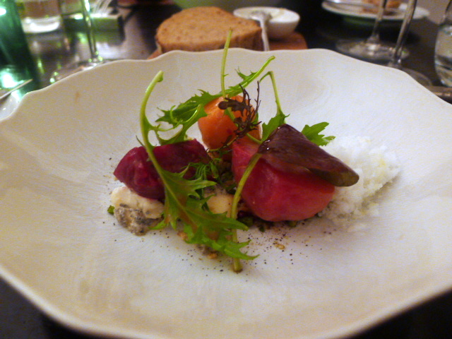 English beetroot with goat's cheese