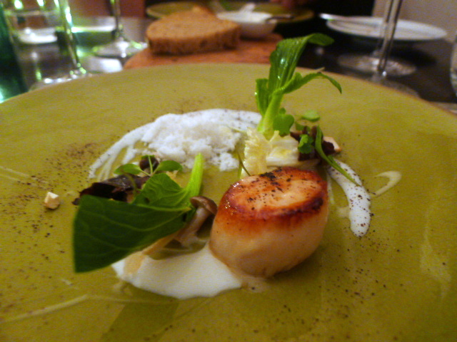Scottish scallops with coconut and ginger