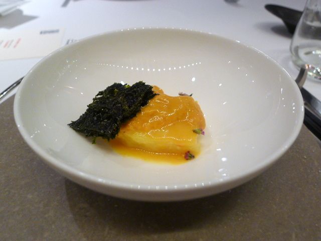 Cod with sea urchin