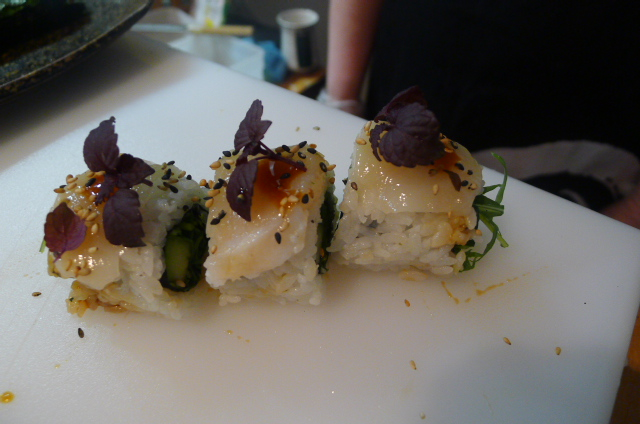 Iso maki with hand-dived scallop