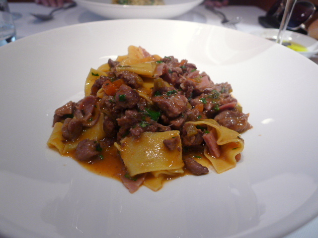 Pappardelle with duck ragout & prosciutto