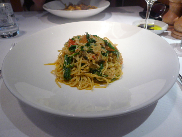 Fedelini with fresh crab
