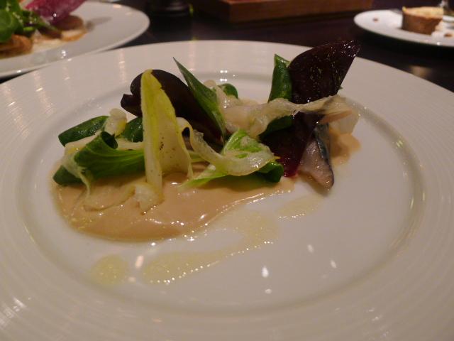 Hay smoked mackerel