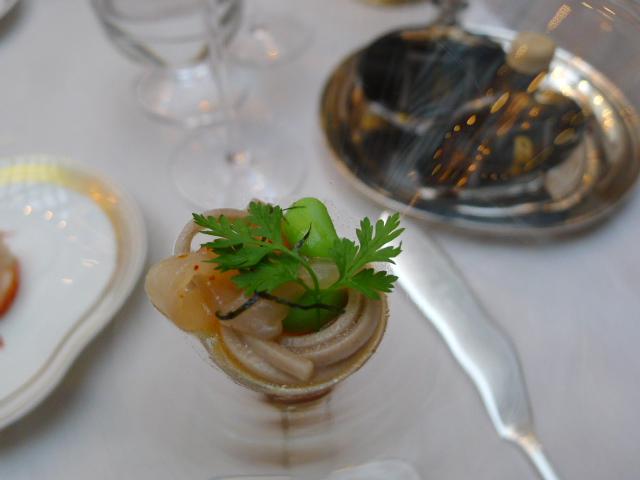 Buckwheat spaghetti with mackerel