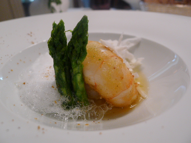 Langoustine with coconut