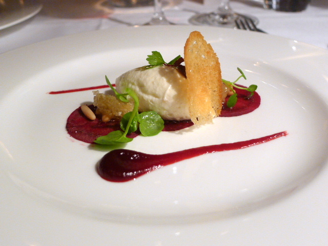 Whipped goat's cheese