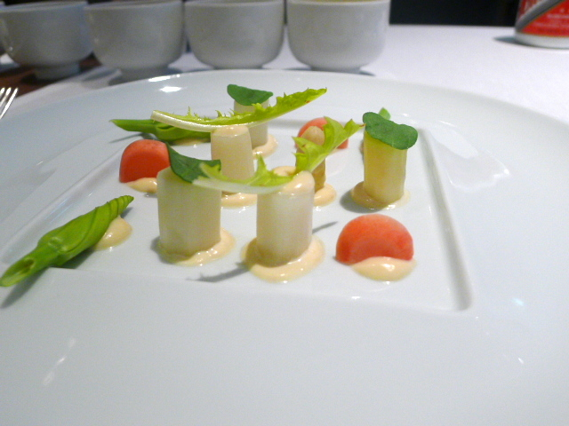 Asparagus & sweet and sour radish