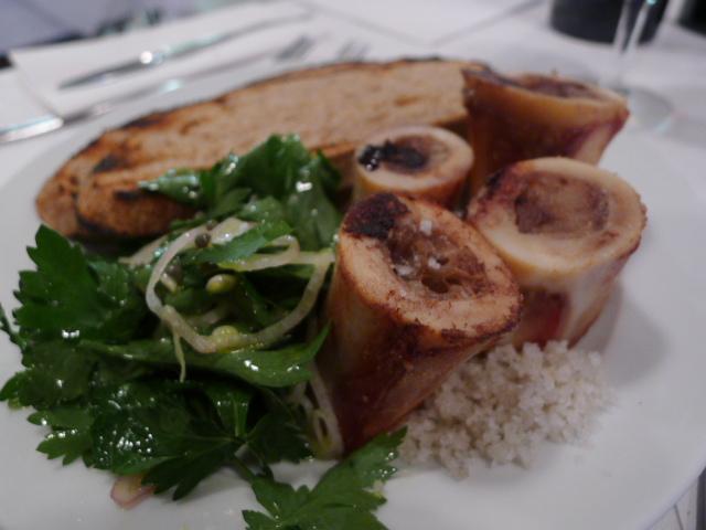 Roast bone marrow & parsley salad