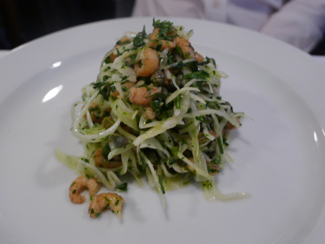 Brown shrimp & white cabbage