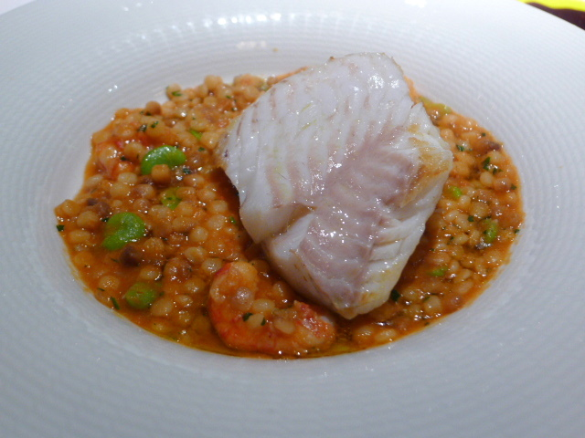 Cornish turbot, Sicilian prawns & fregola