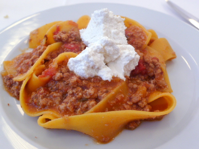 Pappardelle with veal ragu & ricotta