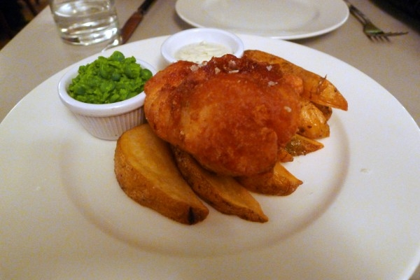 Battered Scottish hake