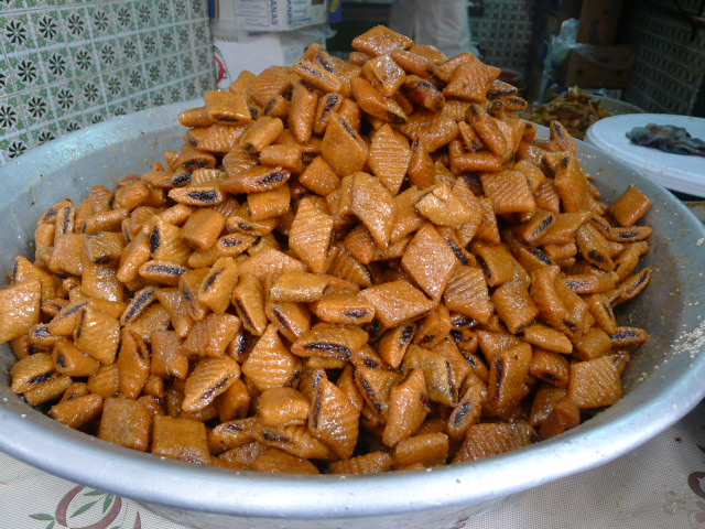 Tunisian sweets found in the medina - filled with dates