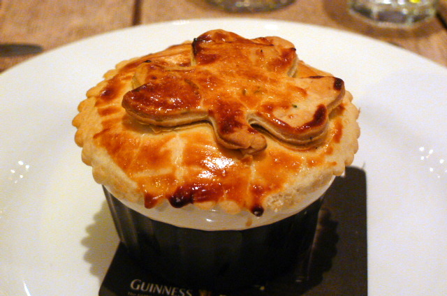 Snail & smoked bacon pie