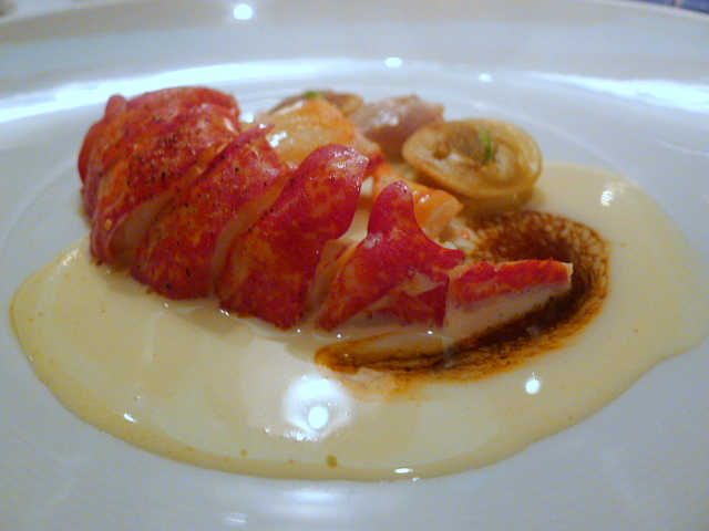 Poached Scottish lobster