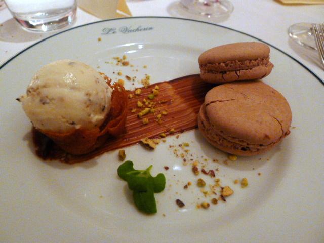 Chocolate & white truffle macaroons
