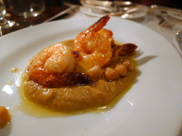 Prawns with spiced chickpeas